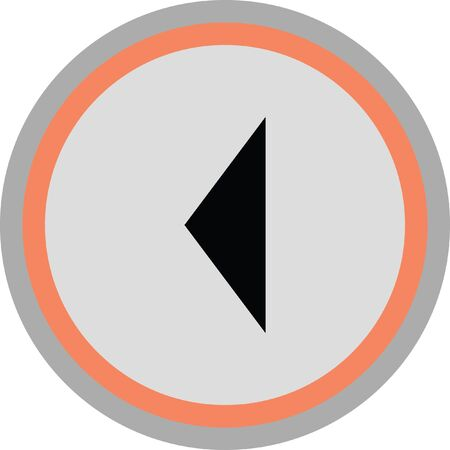 exit sign icon: left arrow vector icon