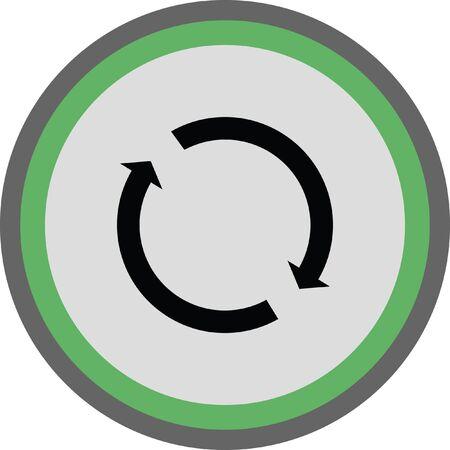 reload sign icon. refresh icon. repeat icon Illustration