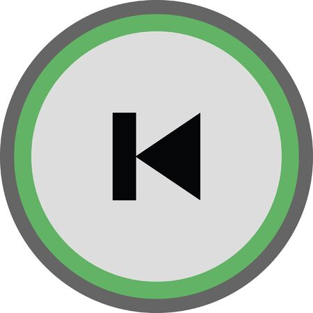 previous: previous button vector icon