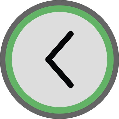 left arrow vector icon