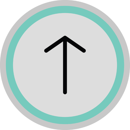 up arrow icon Illustration