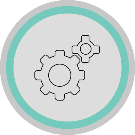 setting web internet icon Illustration