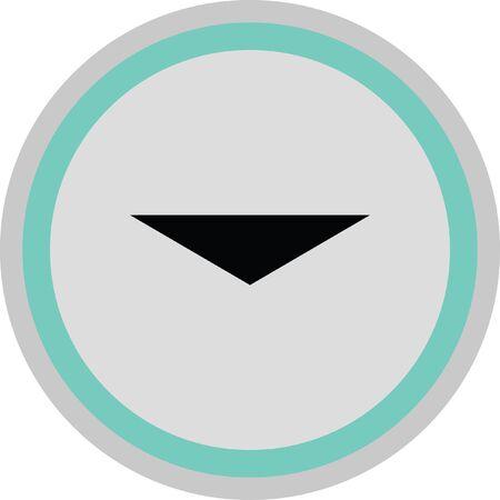 redo: down arrow vector icon