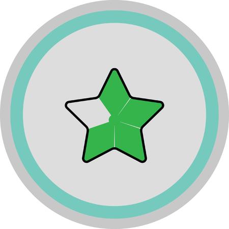 ottimo: stella d'oro icona preferita Vettoriali