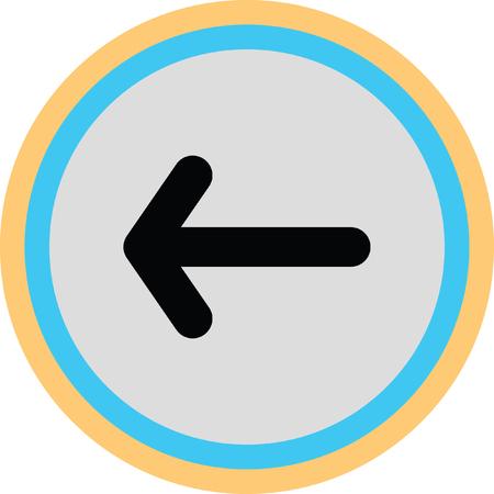 next icon: arrow left Illustration