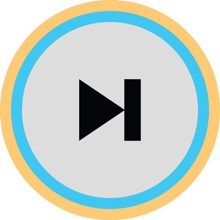 forward button vector icon