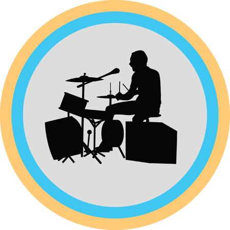 bass drum: drumer