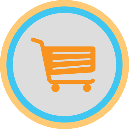 retailer: Shopping cart sign Illustration