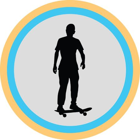 roller skating: skateboarder Illustration