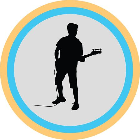 guitarist Illustration