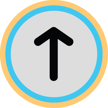 up arrow icon Illustration
