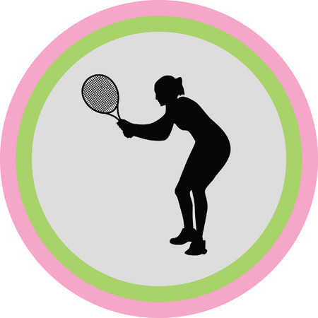 gripping: girl play tennis