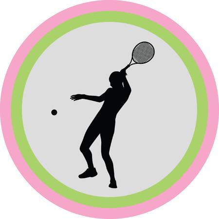 girl play tennis