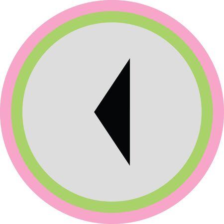 left arrow vector icon Vector Illustration