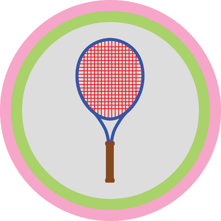 gripping: tennis racket Illustration