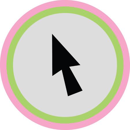 cursor arrow: Mouse click pointer cursor arrow.