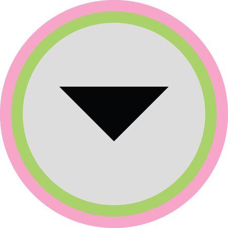 escape: down arrow vector icon