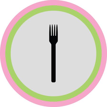 serving utensil: fork icon Illustration