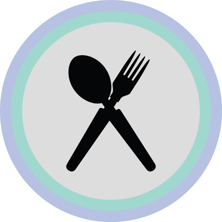 flatwares: spoon and fork icon