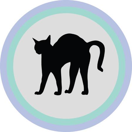 bristle: bristle cat Illustration