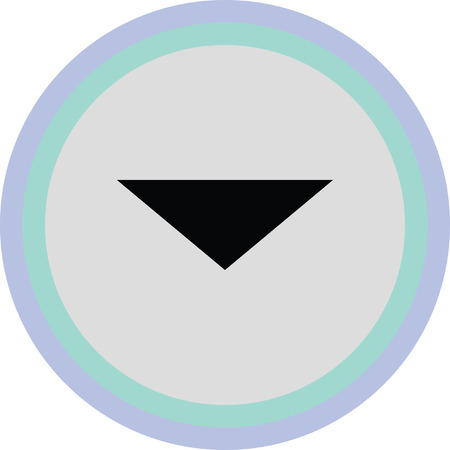 next icon: down arrow vector icon