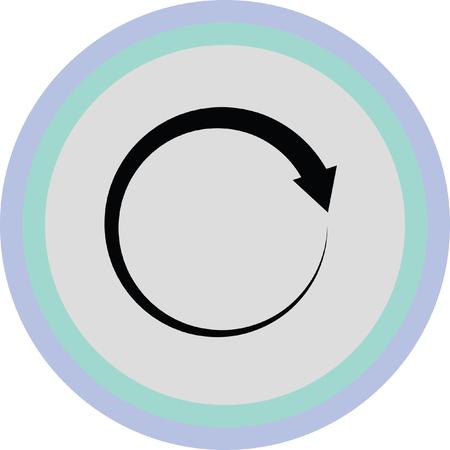 refresh or reload arrow icon Ilustrace