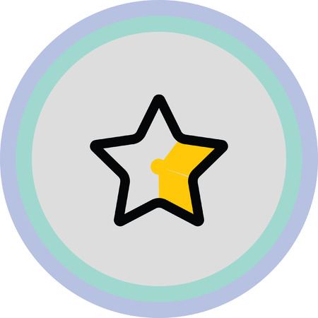 features: gold star favorite icon
