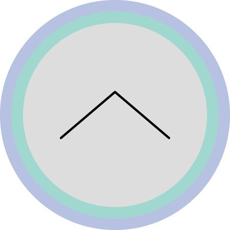 escape: up arrow vector icon Illustration