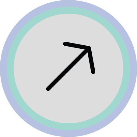 next icon: up left arrow icon Illustration
