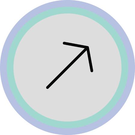 up left arrow icon Illustration
