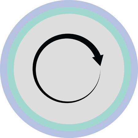 refresh or reload arrow icon Illustration