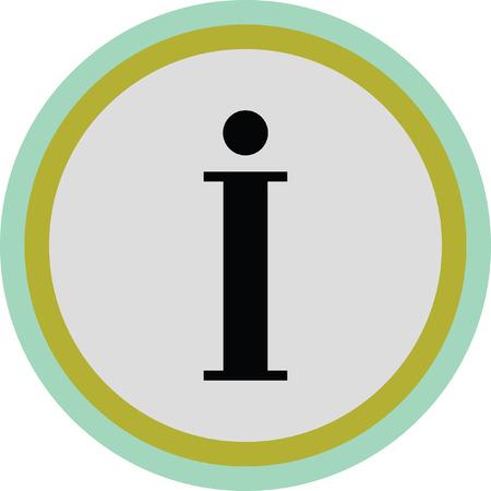 info icon sign Illustration