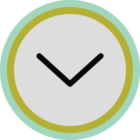 exit sign icon: down open arrow vector icon Illustration