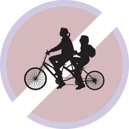 spoke: bicyclist silhouette vector