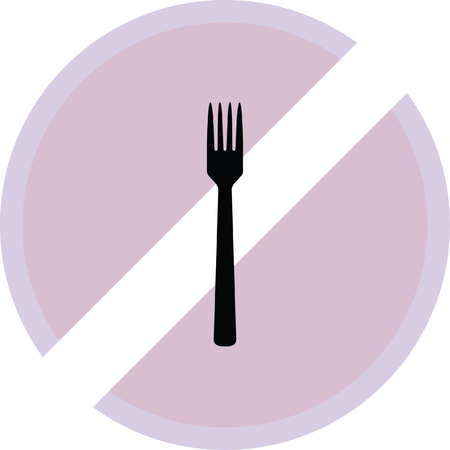 flatwares: fork icon Illustration