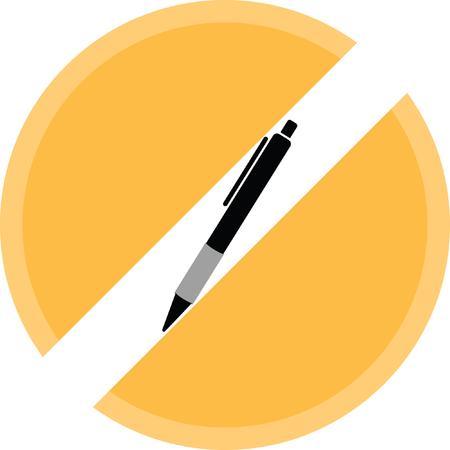 ballpen: pen sign Illustration