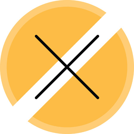 interruption: Stop load icon. Illustration