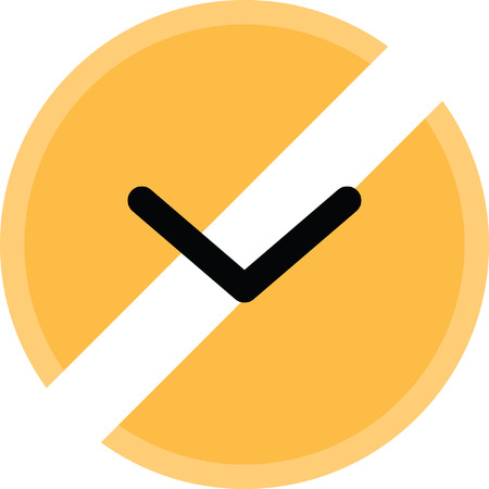 Down open arrow vector icon. Illustration