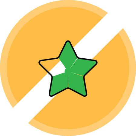 Gold star favorite icon.