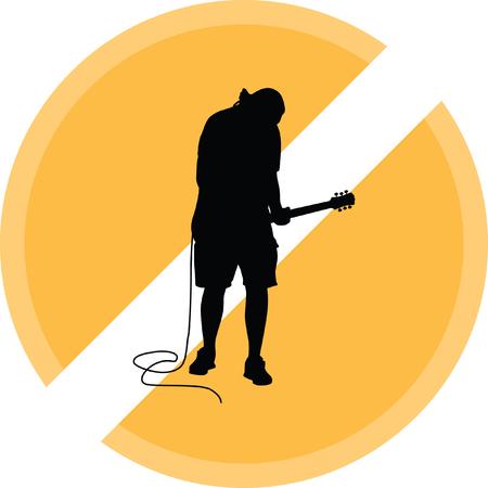 Guitarist icon. Illustration