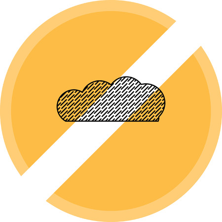 rain cloud vector icon Illustration