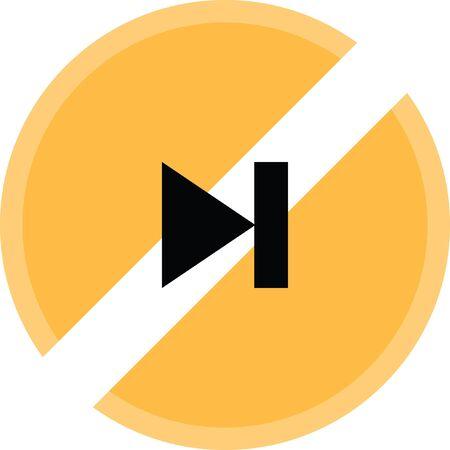 Forward button vector icon.