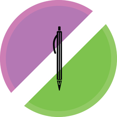 pen sign icon on a white background