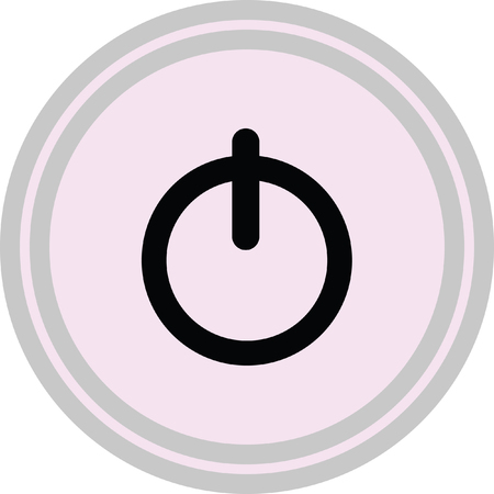 power button vector icon on a white background Illustration
