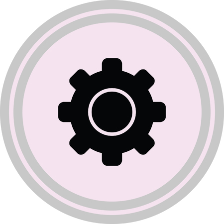 wheel spin: setting web internet icon on a white background Illustration