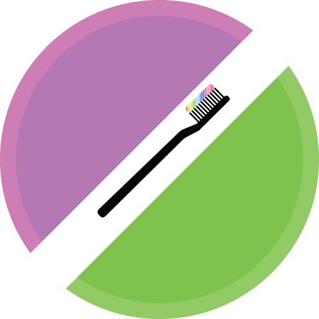 toothbrush vector icon on a white background Illustration