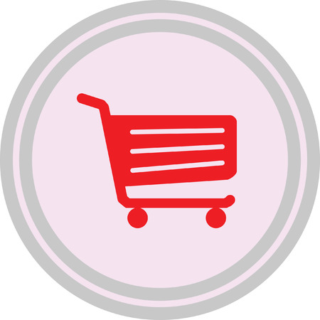 Shopping cart sign on a white background Vectores