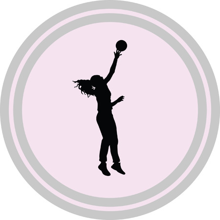 volleyball woman player on a white background Illustration