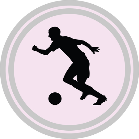 soccer player icon on a white background