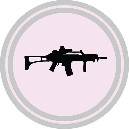 rifle icon on a white background Illustration